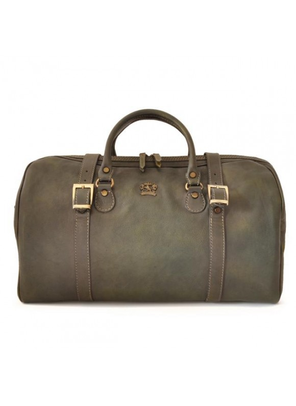 Pratesi Travel bag Perito Moreno in cow leather - Bruce Dark Green