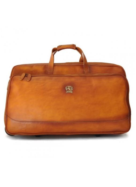 Pratesi Travel Bag Transiberiana B. in cow leather - Bruce Cognac