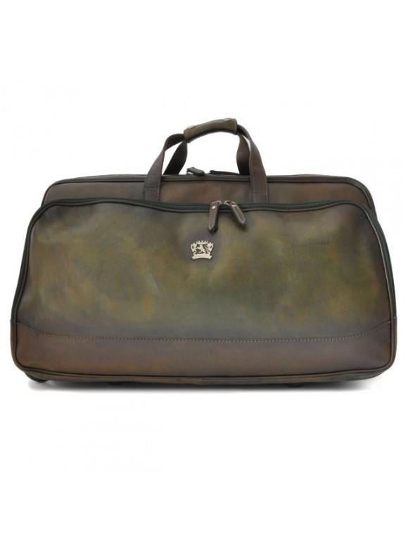 Pratesi Travel Bag Transiberiana B. in cow leather - Bruce Dark Green