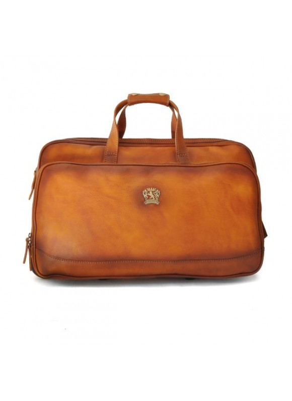 Pratesi Travel Bag Transiberiana S. in cow leather - Bruce Cognac