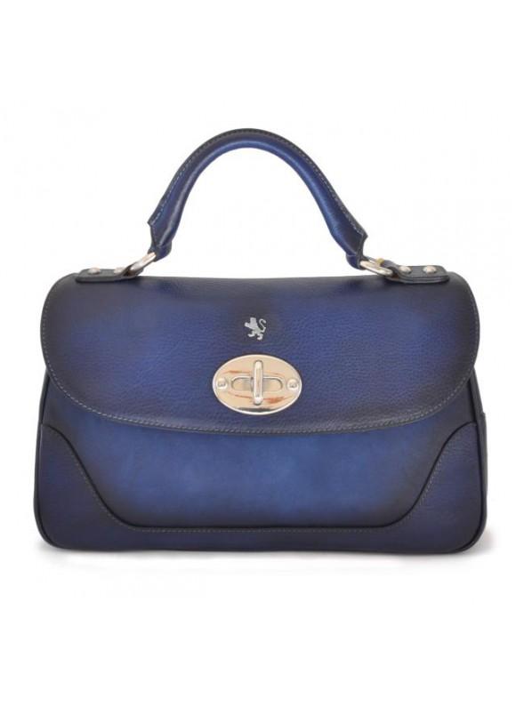 Pratesi Woman Bag Garfagnana in cow leather - Bruce Blue