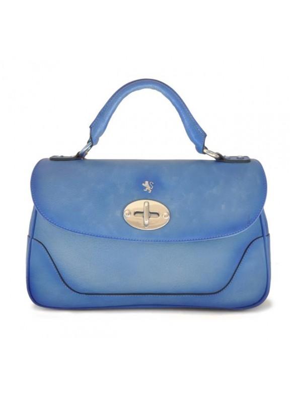 Pratesi Woman Bag Garfagnana in cow leather - Bruce Sky Blue