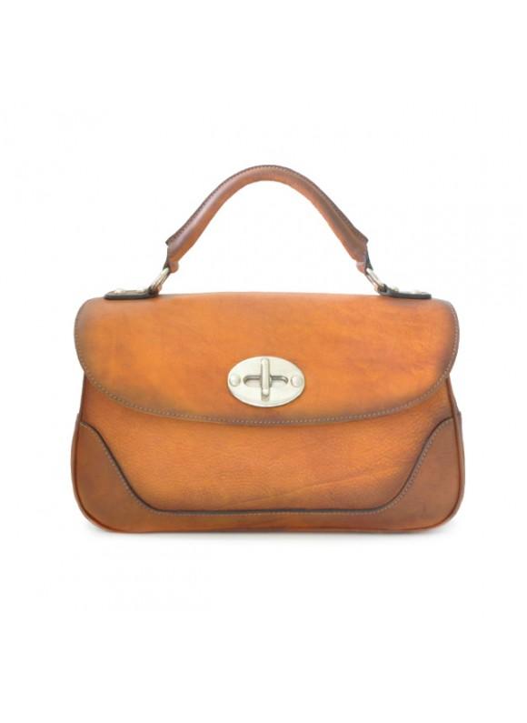 Pratesi Woman Bag Garfagnana in cow leather - Bruce Cognac