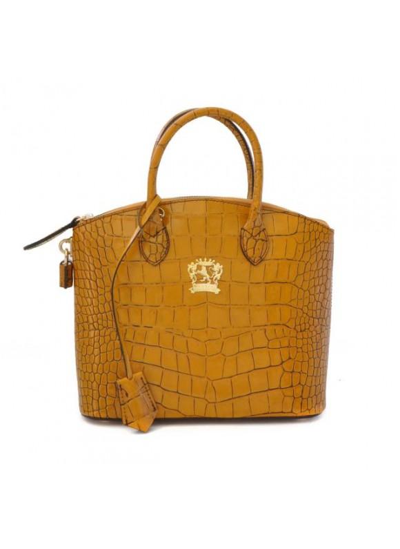 Pratesi Versilia King Small Woman Bag in cow leather - King Mustard