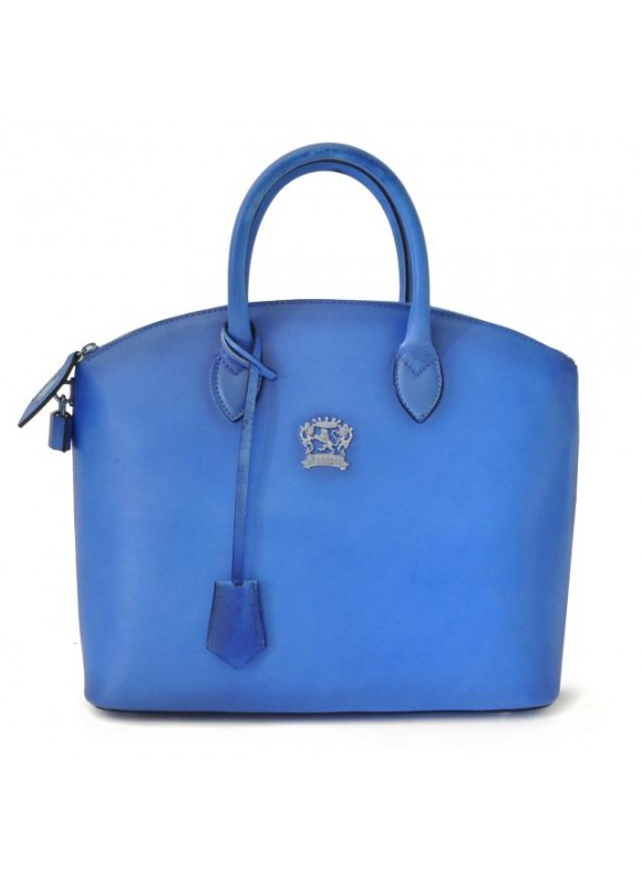 Pratesi Versilia Bruce Handbag in cow leather - Bruce Electric Blue