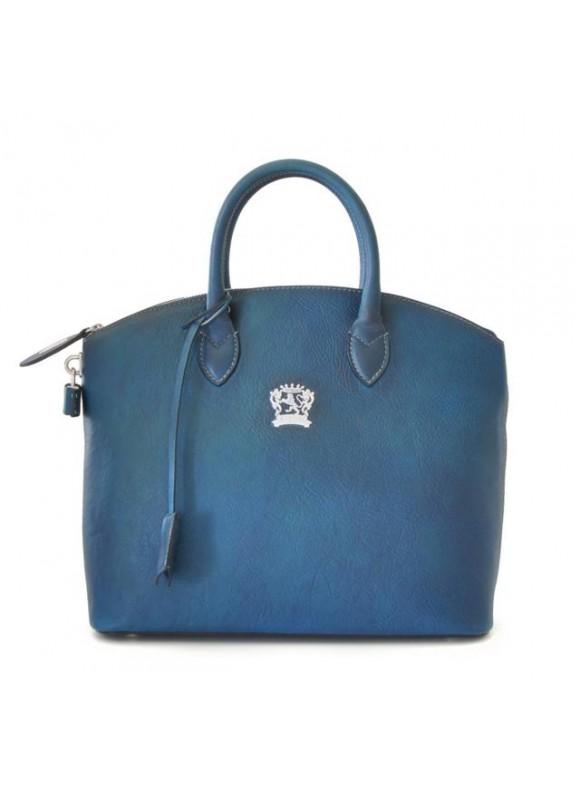 Pratesi Versilia Bruce Handbag in cow leather - Bruce Blue