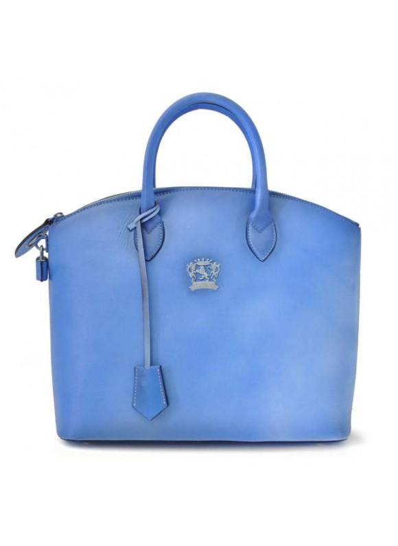 Pratesi Versilia Bruce Handbag in cow leather - Bruce Sky Blue