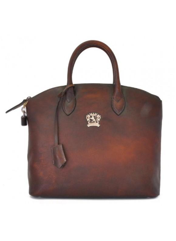 Pratesi Versilia Bruce Handbag in cow leather - Bruce Coffee