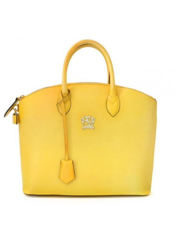 Pratesi Versilia Bruce Handbag in cow leather - Bruce Yellow