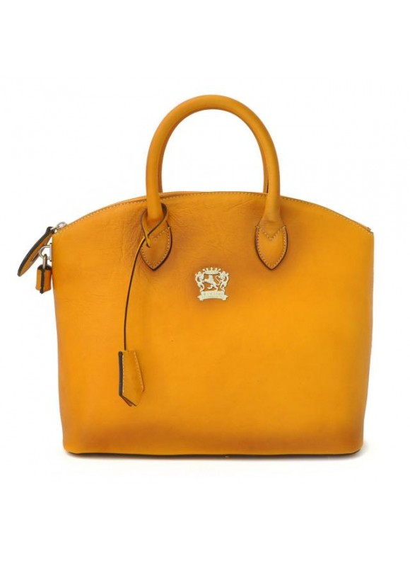 Pratesi Versilia Bruce Handbag in cow leather - Bruce Mustard