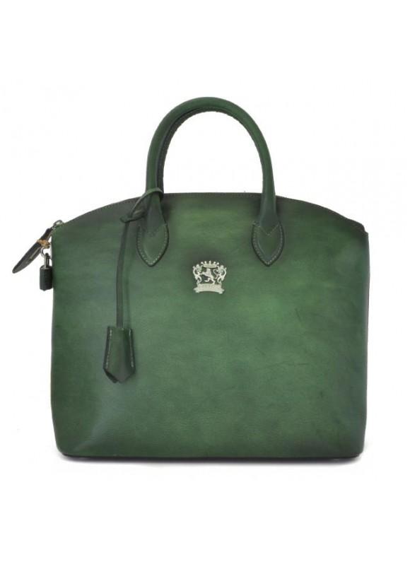 Pratesi Versilia Bruce Handbag in cow leather - Bruce Emerald
