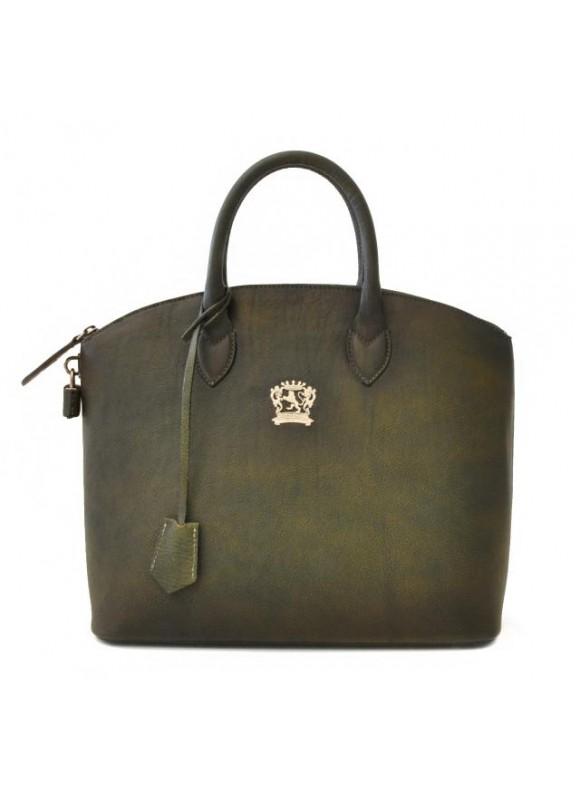 Pratesi Versilia Bruce Handbag in cow leather - Bruce Dark Green
