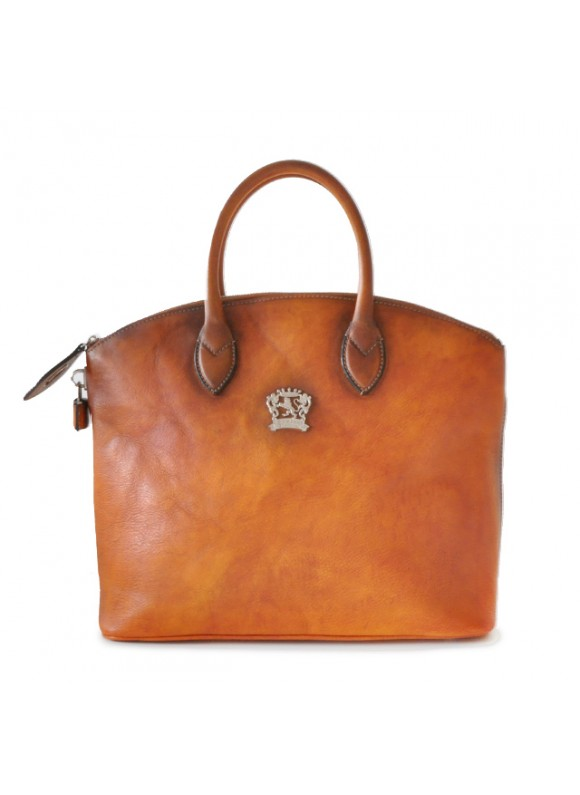 Pratesi Versilia Bruce Handbag in cow leather - Bruce Cognac