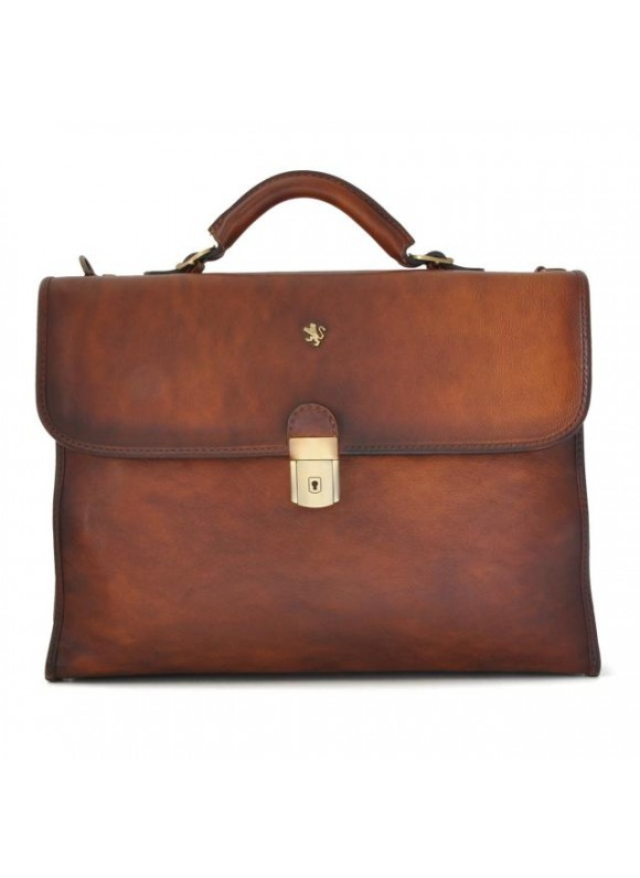 Pratesi Da Verrazzano Briefcase for Laptop in cow leather - Bruce Brown