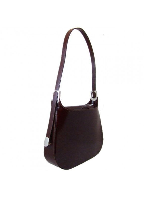 Pratesi Tintoretto Shoulder Bag in cow leather - Radica Coffee
