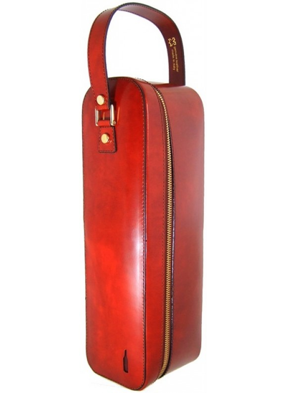 Pratesi Bacco Wine Case in cow leather - Radica Brown