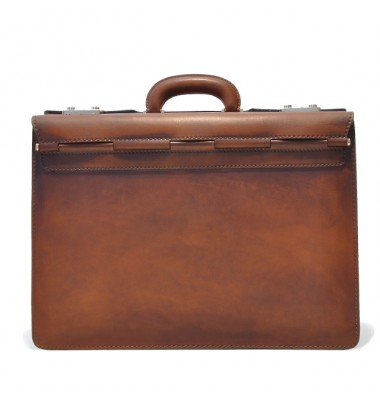 Pratesi Briefcase Lorenzo Il Magnifico in cow leather - Bruce Brown