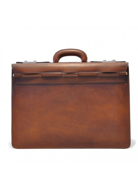Pratesi Briefcase Lorenzo Il Magnifico in cow leather - Bruce Brown