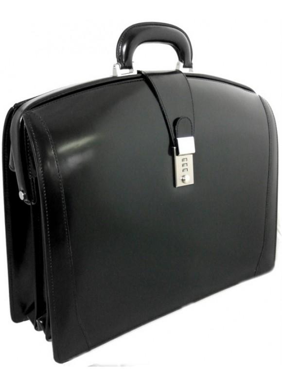 Pratesi Brunelleschi Briefcase in cow leather - Radica Black