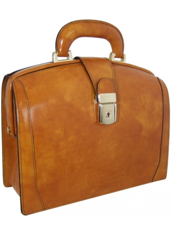 Pratesi Miss Brunelleschi Bag in cow leather - Radica Mustard