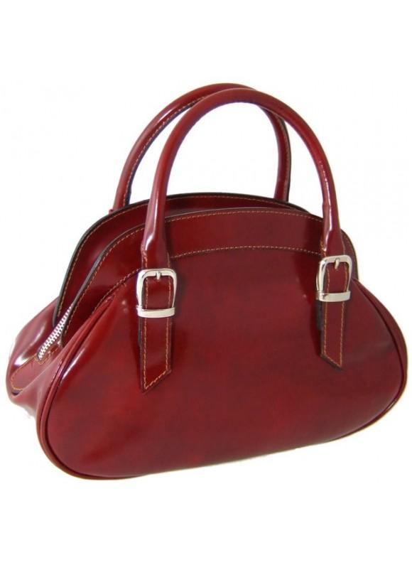 Pratesi Giotto Handbag in cow leather - Radica Chianti