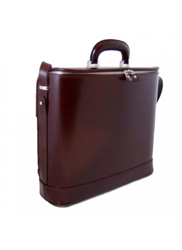 Pratesi Raffaello Laptop Bag 15 in cow leather - Radica Coffee