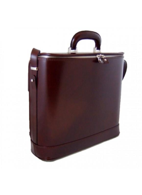Pratesi Raffaello Laptop Bag 17 in cow leather - Radica Coffee