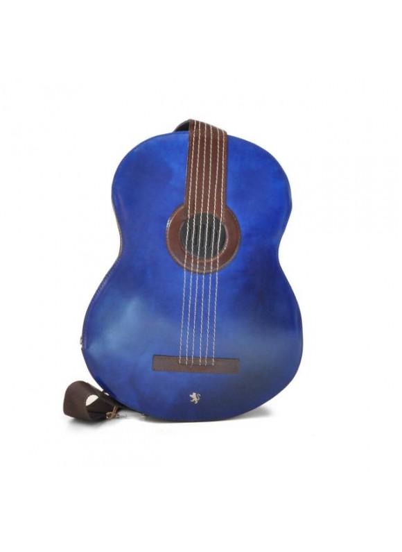Pratesi Da Filicaja Guitar Backpack in cow leather - Radica Blue Elettric
