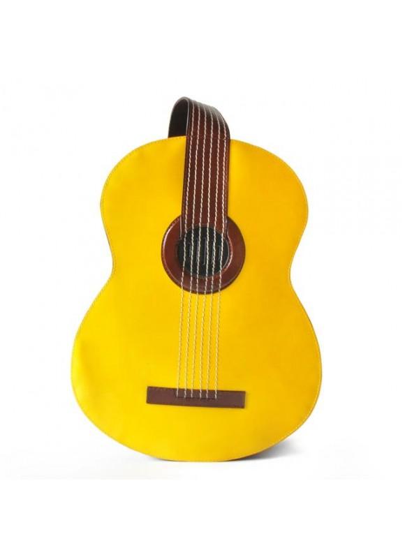 Pratesi Da Filicaja Guitar Backpack in cow leather - Radica Yellow