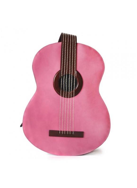 Pratesi Da Filicaja Guitar Backpack in cow leather - Radica Pink