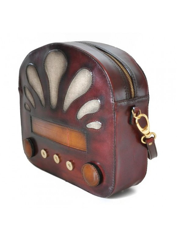 Pratesi Radio Days Santa Croce Shoulder Bag in real leather