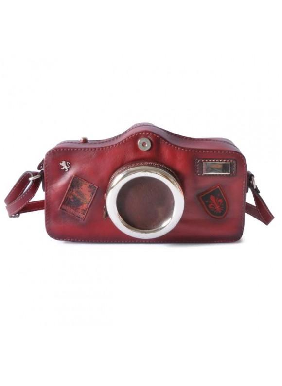 Pratesi Photocamera Bruce Cross-Body Bag in cow leather - Bruce Chianti
