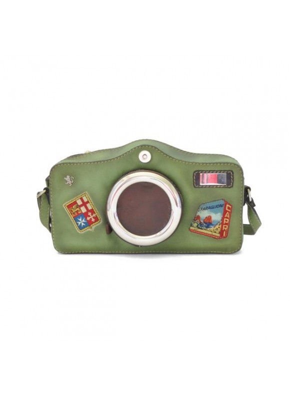 Pratesi Photocamera Bruce Cross-Body Bag in cow leather - Bruce Green