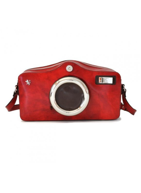 Pratesi Photocamera Radica Shoulder Bag in cow leather - Radica Cherry
