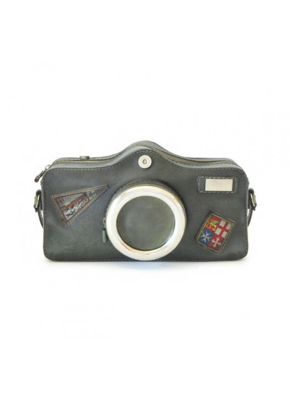Pratesi Photocamera Bruce Cross-Body Bag in cow leather - Bruce Dark Green