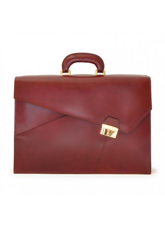 Pratesi Leon Battista Alberti Briefcase in cow leather - Radica Chianti