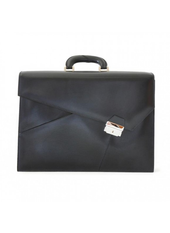 Pratesi Leon Battista Alberti Briefcase in cow leather - Radica Black