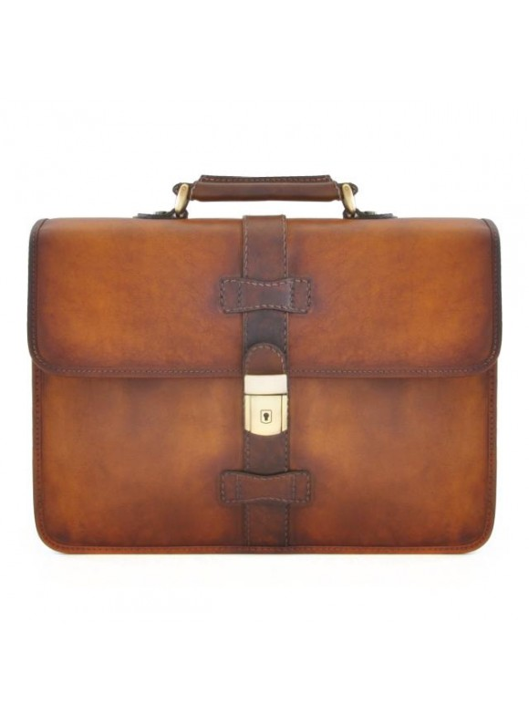 Pratesi Briefcase Anghiari in cow leather - Bruce Brown