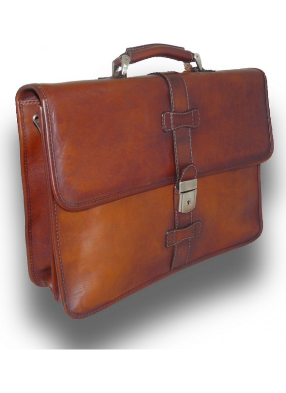 Pratesi Briefcase Pratomagno in cow leather - Bruce Brown