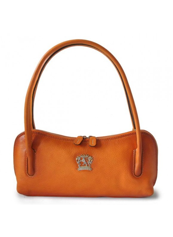 Pratesi Sansepolcro Shoulder Bag in cow leather - Bruce Orange