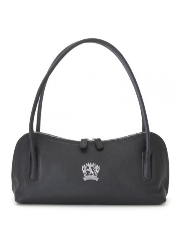 Pratesi Sansepolcro Shoulder Bag in cow leather - Bruce Black