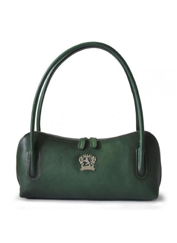 Pratesi Sansepolcro Shoulder Bag in cow leather - Bruce Emerald