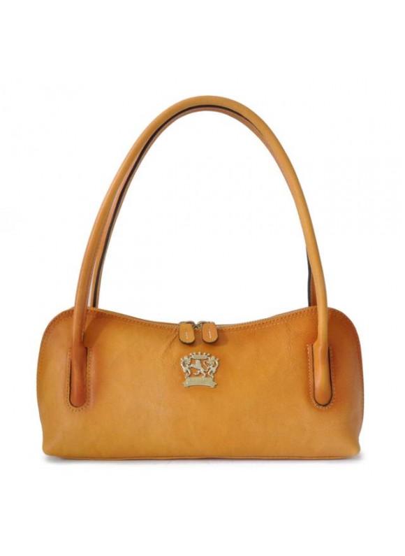 Pratesi Sansepolcro Shoulder Bag in cow leather - Bruce Mustard