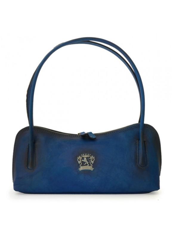 Pratesi Sansepolcro Shoulder Bag in cow leather - Bruce Blue