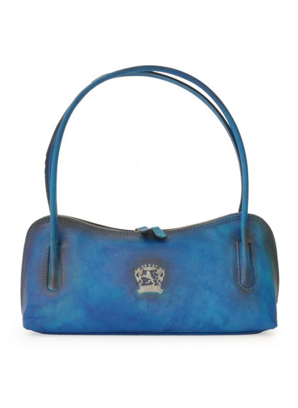 Pratesi Sansepolcro Shoulder Bag in cow leather - Bruce Electric Blue