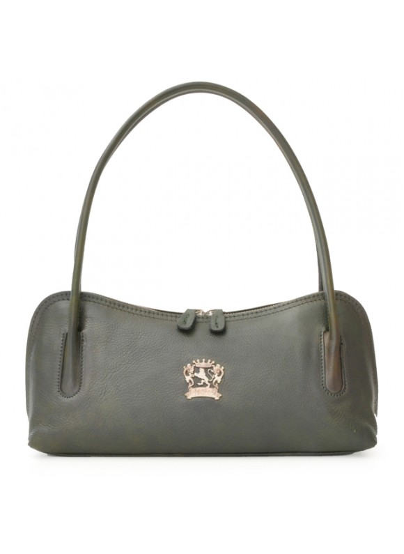 Pratesi Sansepolcro Shoulder Bag in cow leather - Bruce Dark Green