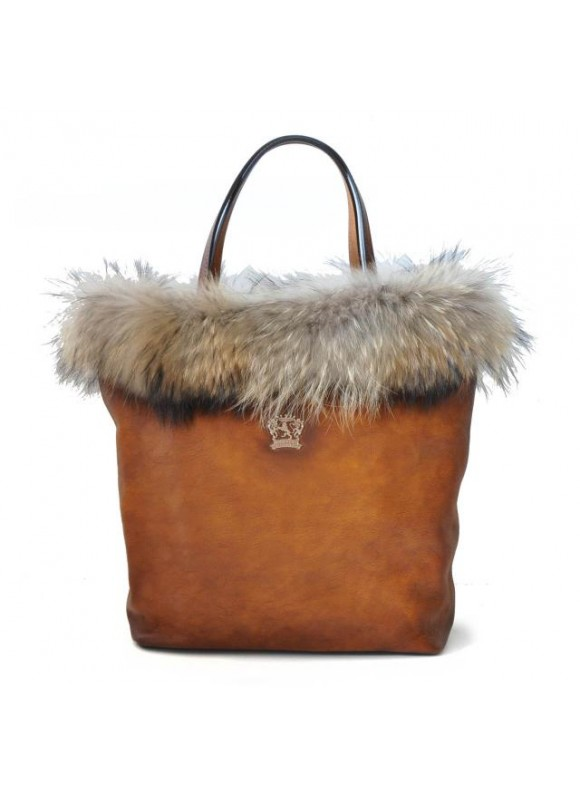 Pratesi Monterchi Tote Bag in cow leather and fur - Bruce Brown