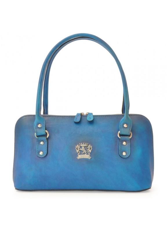 Pratesi Shoulder bag Subbiano in cow leather - Bruce Blue