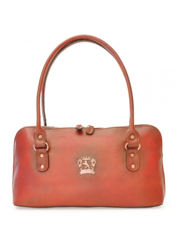 Pratesi Shoulder bag Subbiano in cow leather - Bruce Cherry