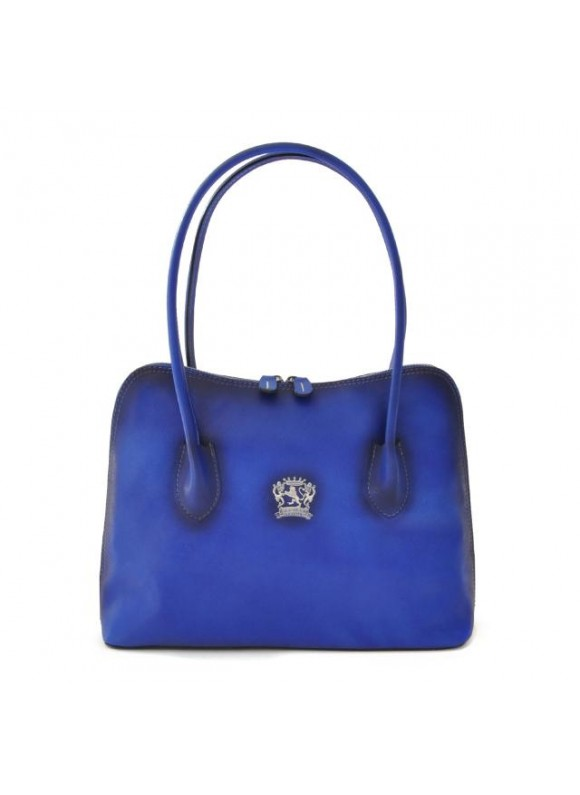 Pratesi Shoulder Bag Talla in cow leather - Bruce Electric Blue